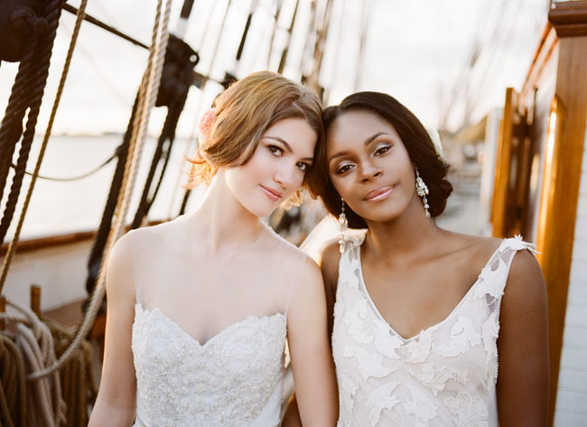 Picture Of romantic wedding shoot on a historic ship  15