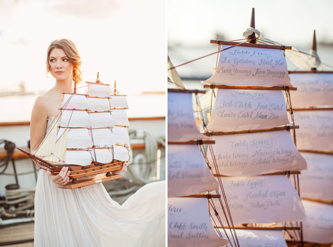Picture Of romantic wedding shoot on a historic ship  17