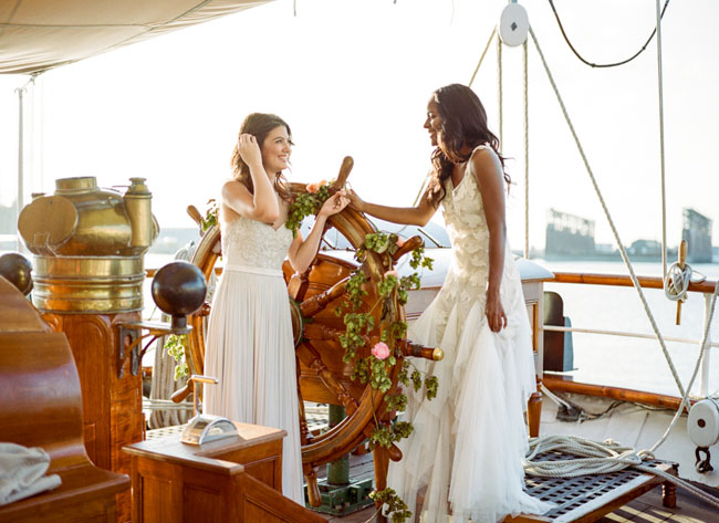 Picture Of romantic wedding shoot on a historic ship  3