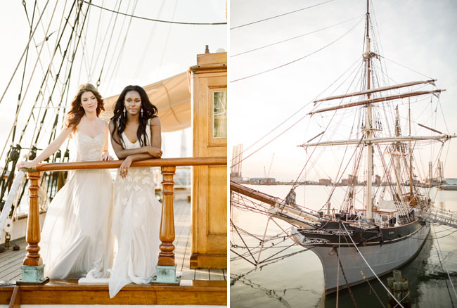 Picture Of romantic wedding shoot on a historic ship  4