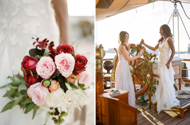 Picture Of romantic wedding shoot on a historic ship  5