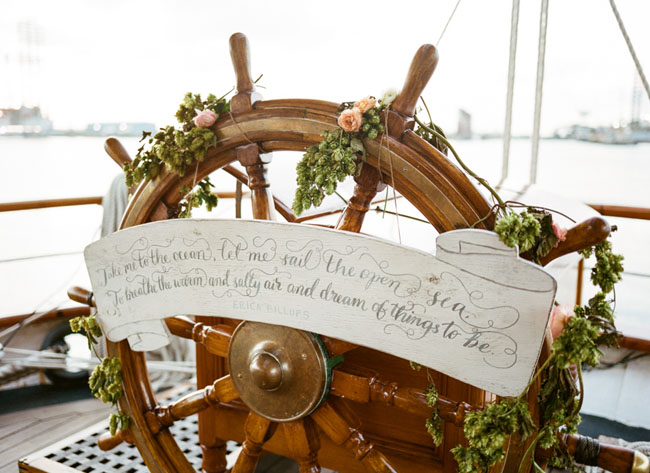 Picture Of romantic wedding shoot on a historic ship  6