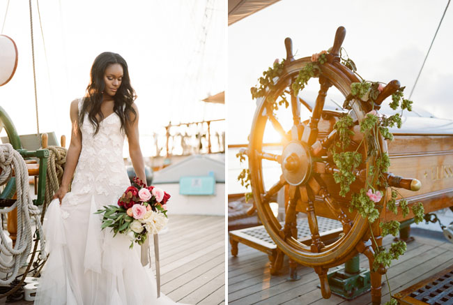 Picture Of romantic wedding shoot on a historic ship  7