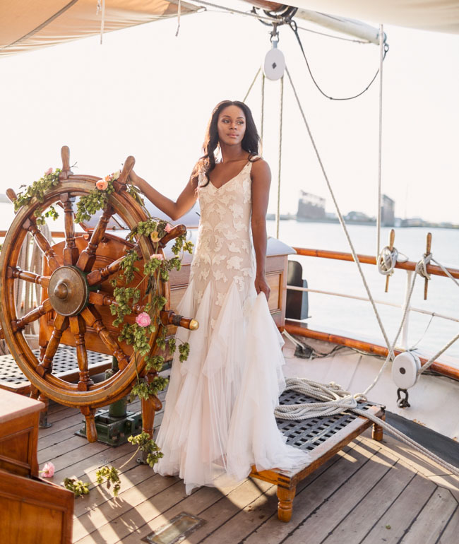 Picture Of romantic wedding shoot on a historic ship  8