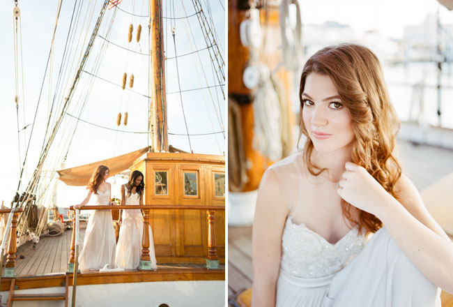 Picture Of romantic wedding shoot on a historic ship  9