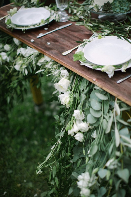 Picture Of romantic white wedding inspirational shoot in a blossoming garden  10