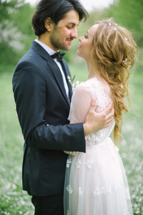 Romantic White Wedding Inspirational Shoot In A Blooming Garden