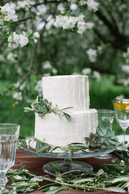 Picture Of romantic white wedding inspirational shoot in a blossoming garden  9
