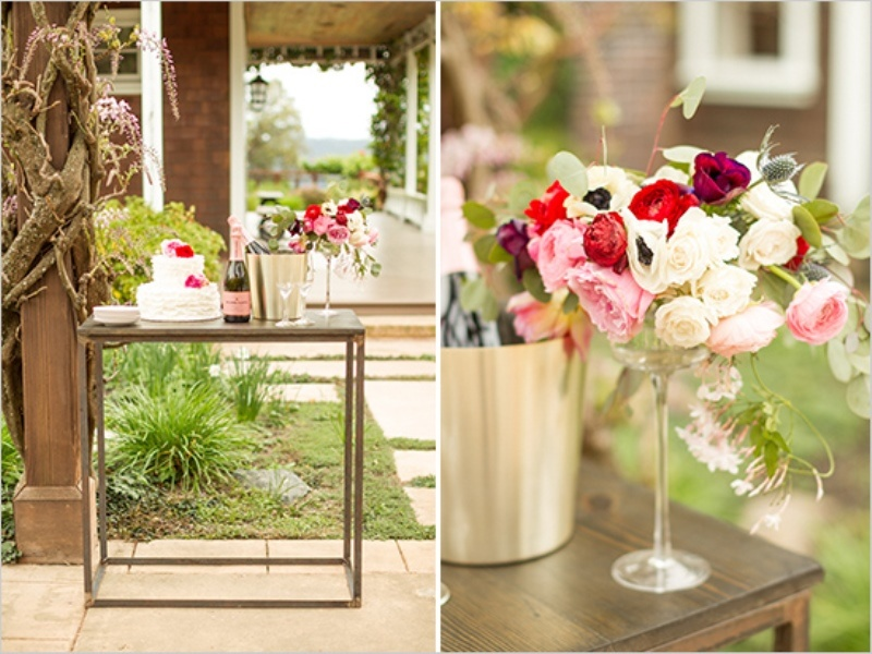Picture Of romantic wine country wedding inspiration with pops of pink  14