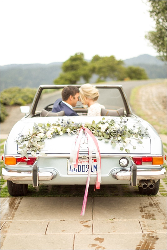 Picture Of romantic wine country wedding inspiration with pops of pink  16
