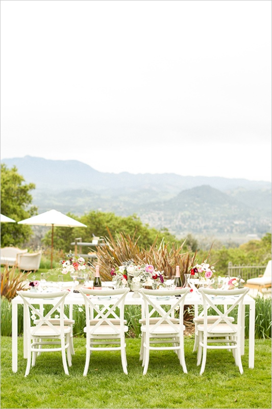 Picture Of romantic wine country wedding inspiration with pops of pink  4