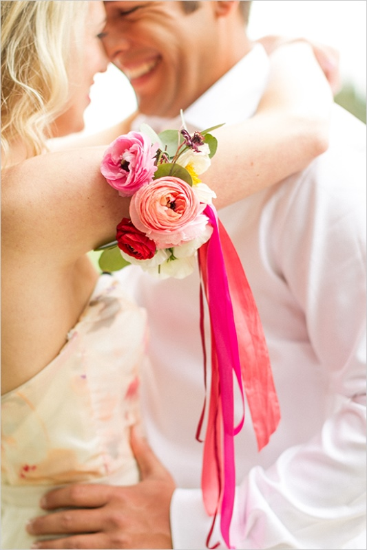 Picture Of romantic wine country wedding inspiration with pops of pink  6