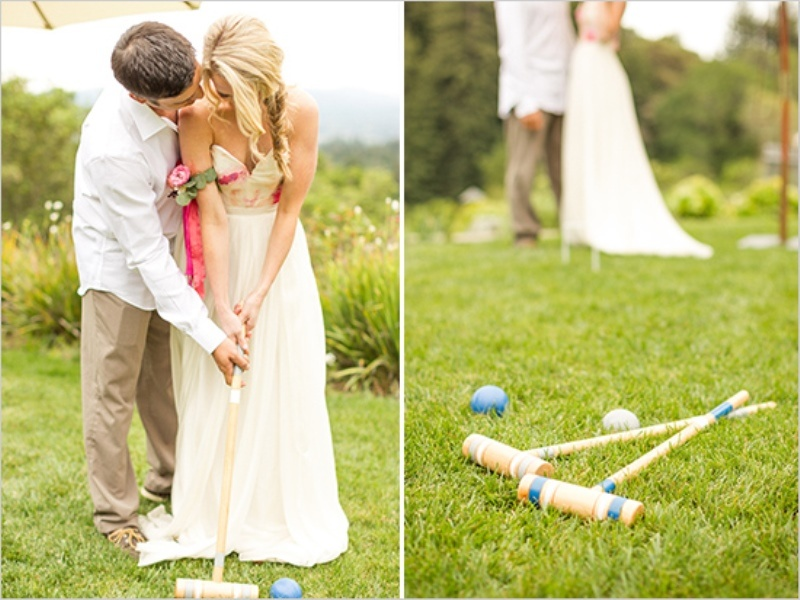 Picture Of romantic wine country wedding inspiration with pops of pink  7