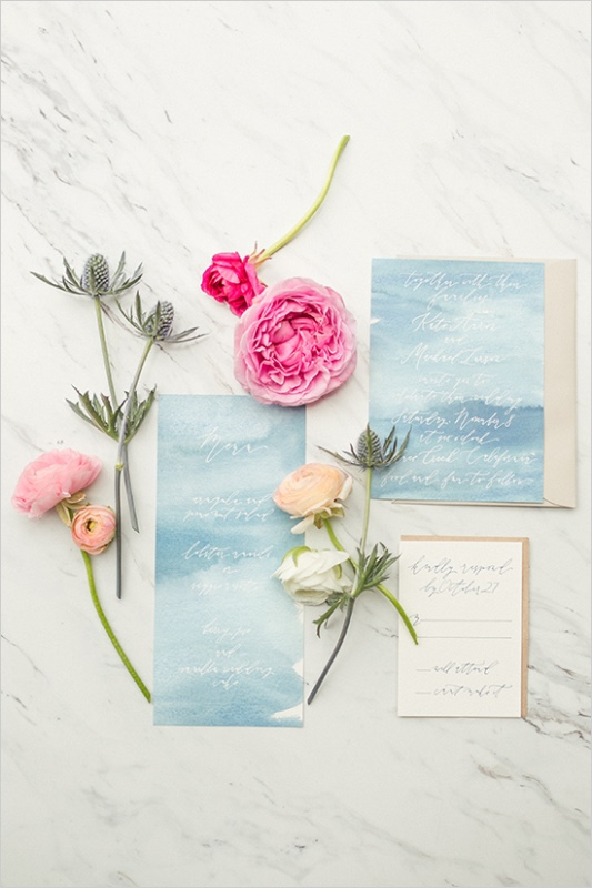 Picture Of romantic wine country wedding inspiration with pops of pink  8
