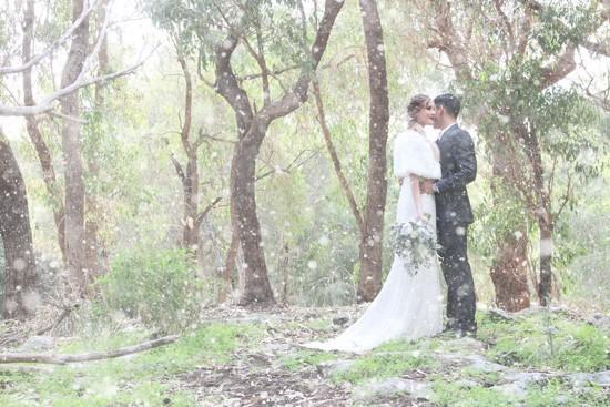 Picture Of romantic winter wonderland wedding inspiration  10