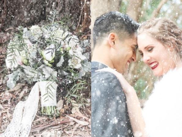 Picture Of romantic winter wonderland wedding inspiration  12