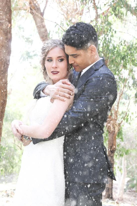 Picture Of romantic winter wonderland wedding inspiration  9