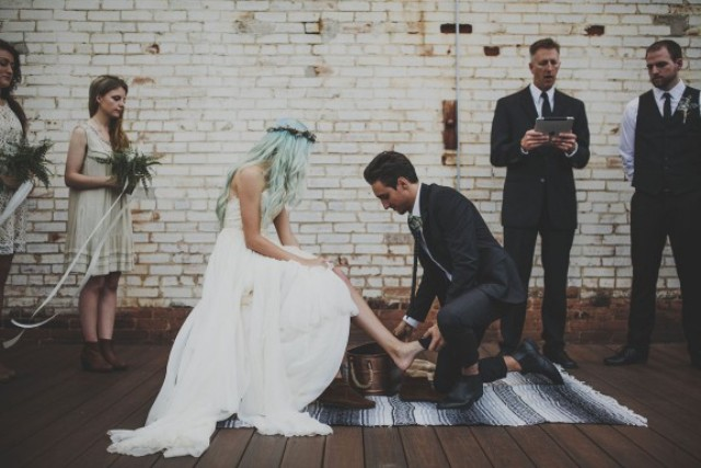 Picture Of rustic and budget friendly nature inspired wedding  3