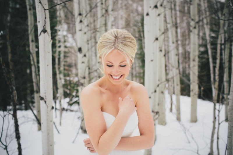 Picture Of rustic and elegant aspen winter wedding inspiration  1
