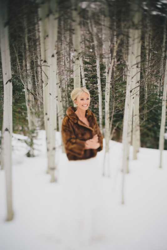 Picture Of rustic and elegant aspen winter wedding inspiration  3