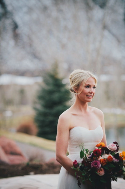 Picture Of rustic and elegant aspen winter wedding inspiration  6