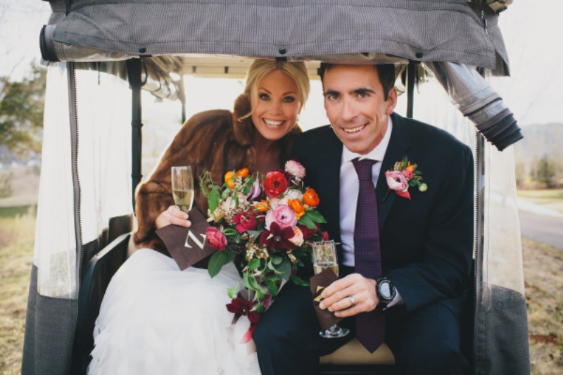 Picture Of rustic and elegant aspen winter wedding inspiration  8