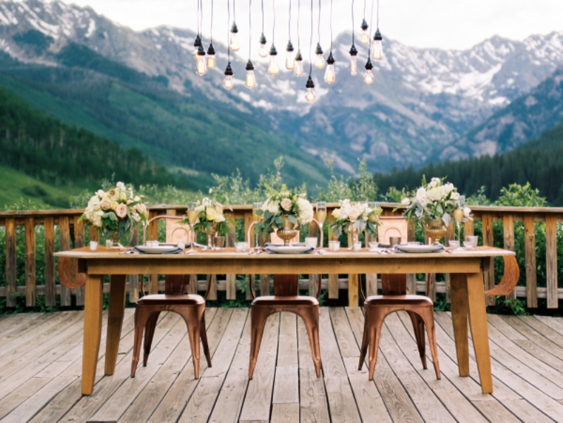 Picture Of rustic and elegant mountain wedding inspiration  12
