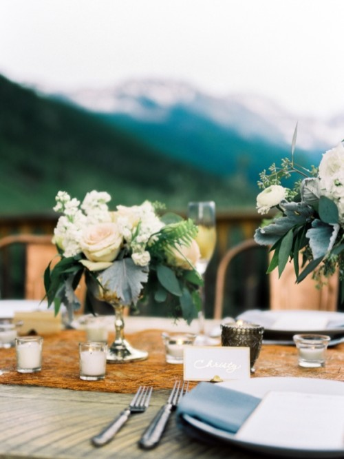 Rustic And Elegant Mountain Wedding Inspiration