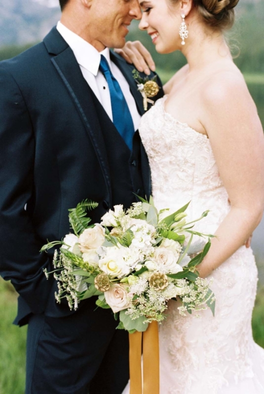 Picture Of rustic and elegant mountain wedding inspiration  6