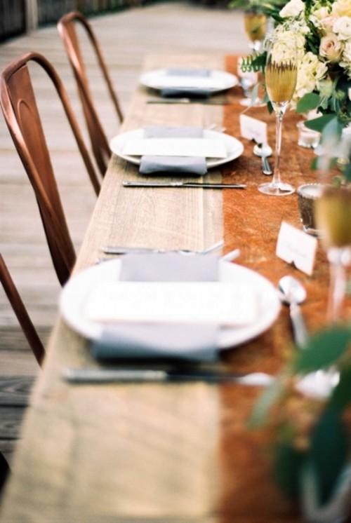 Rustic and elegant mountain wedding inspiration weddingomania - Cake tolix ...