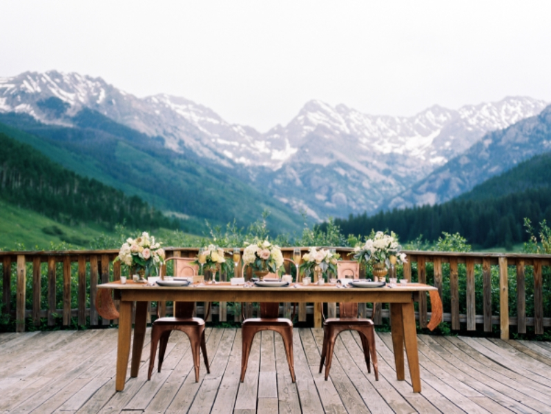 Picture Of rustic and elegant mountain wedding inspiration  8