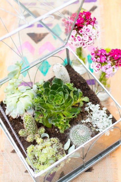 Rustic And Nature Inspired Diy Terrarium Centerpiece