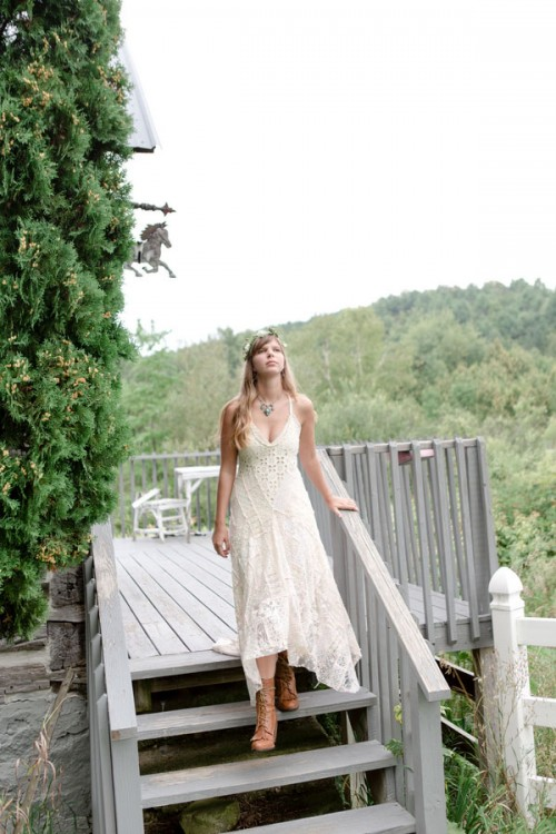 Rustic Boho Chic Wedding With Wild Flowers