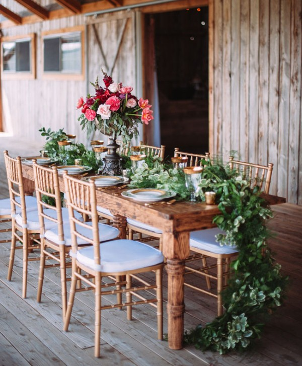 Picture Of rustic chic barn wedding inspiration  12