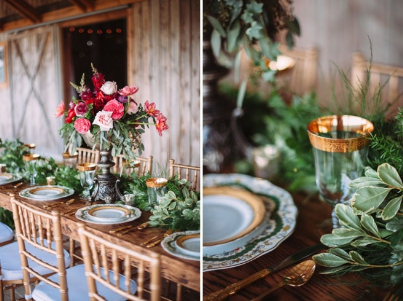 Picture Of Rustic Chic Barn Wedding Inspiration 13