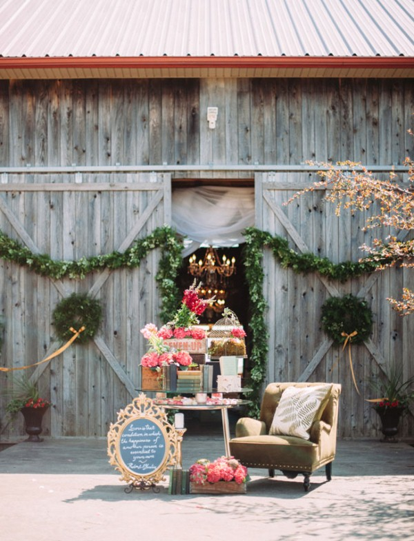 Picture Of rustic chic barn wedding inspiration  6