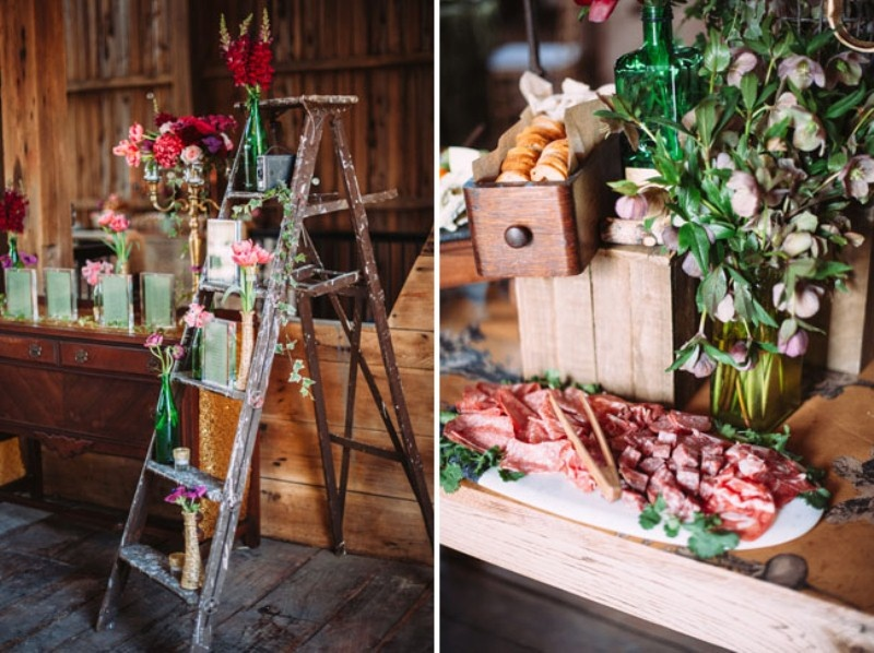 Picture Of rustic chic barn wedding inspiration  9