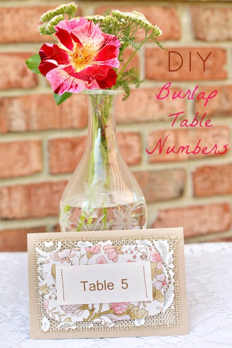 Rustic DIY Burlap Table Numbers