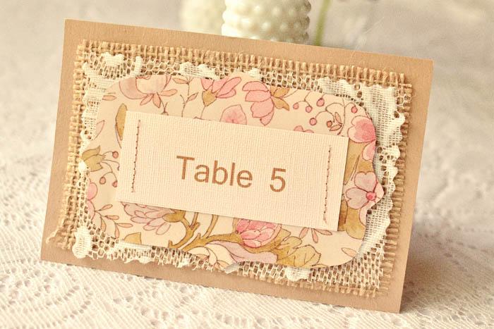 Rustic Diy Burlap Table Numbers