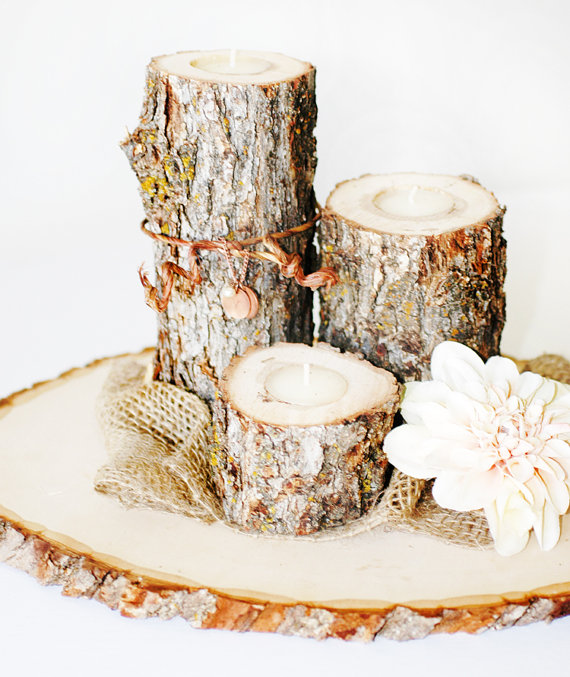 Picture of rustic diy fall wedding centerpiece