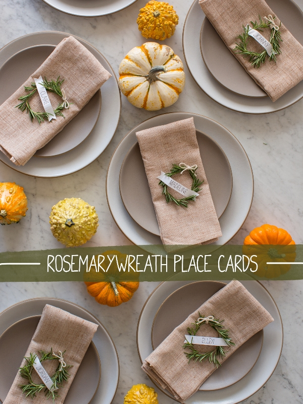 Rustic Diy Rosemary Wreath Place Cards For Your Winter Wedding