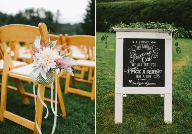 Picture Of rustic mountain wedding with peach touches  11