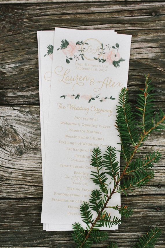 Picture Of rustic mountain wedding with peach touches  12