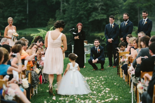 Picture Of rustic mountain wedding with peach touches  13