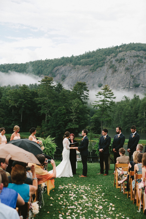 Picture Of rustic mountain wedding with peach touches  14