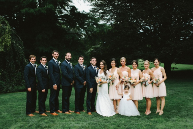 Picture Of rustic mountain wedding with peach touches  16