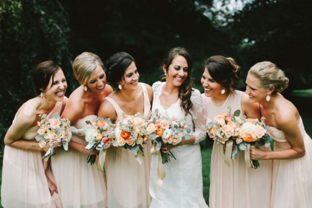 Picture Of rustic mountain wedding with peach touches  17