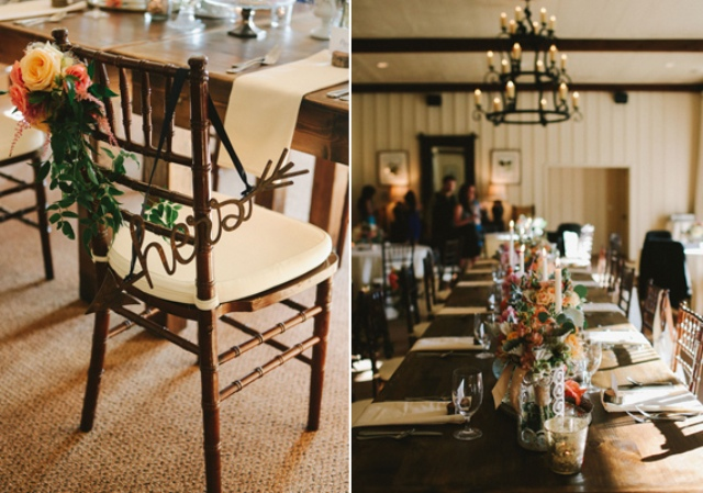 Picture Of rustic mountain wedding with peach touches  19