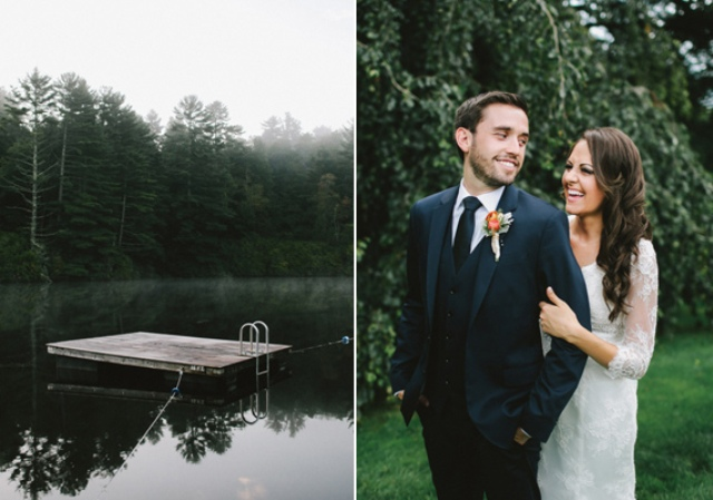 Picture Of rustic mountain wedding with peach touches  2