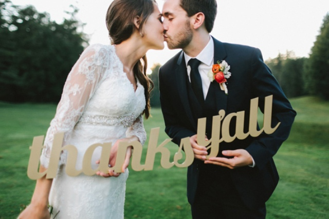 Picture Of rustic mountain wedding with peach touches  21